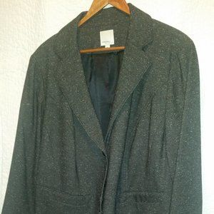 Halogen gray slub tweed blazer - dress up or down